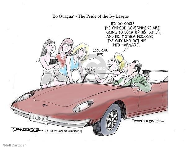 Cartoonist Jeff Danziger  Jeff Danziger's Editorial Cartoons 2012-04-18 college education
