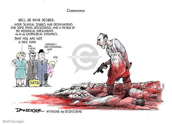 Cartoonist Jeff Danziger  Jeff Danziger's Editorial Cartoons 2012-04-20 international relations