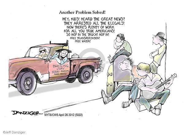 Jeff Danziger  Jeff Danziger's Editorial Cartoons 2012-04-26 employment work