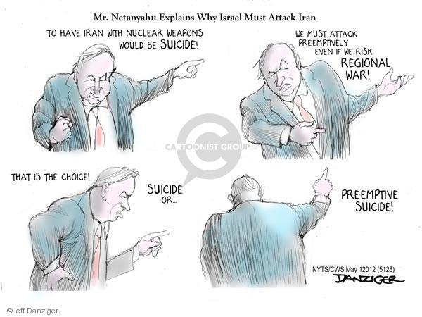 Cartoonist Jeff Danziger  Jeff Danziger's Editorial Cartoons 2012-05-01 bomb