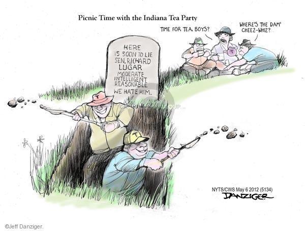 Cartoonist Jeff Danziger  Jeff Danziger's Editorial Cartoons 2012-05-06 party loyalty