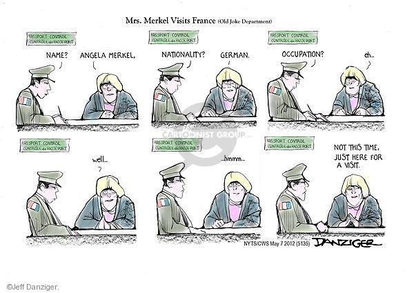 Cartoonist Jeff Danziger  Jeff Danziger's Editorial Cartoons 2012-05-07 World War II