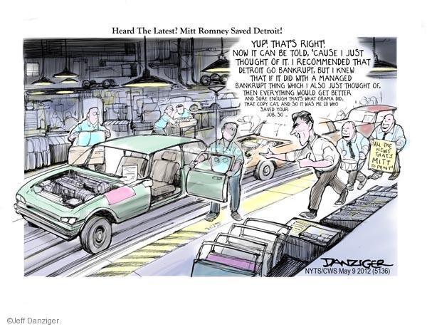 Cartoonist Jeff Danziger  Jeff Danziger's Editorial Cartoons 2012-05-09 candidates republicans
