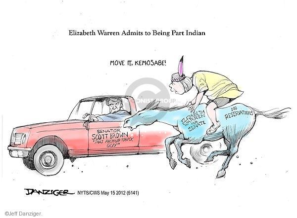 Cartoonist Jeff Danziger  Jeff Danziger's Editorial Cartoons 2012-05-15 Native American