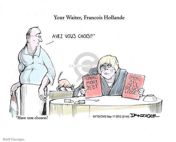 Cartoonist Jeff Danziger  Jeff Danziger's Editorial Cartoons 2012-05-17 choice