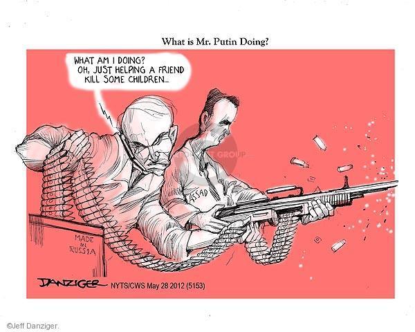 Cartoonist Jeff Danziger  Jeff Danziger's Editorial Cartoons 2012-05-28 Russian President