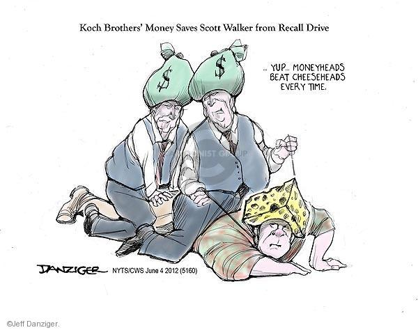 Jeff Danziger  Jeff Danziger's Editorial Cartoons 2012-06-04 Koch brothers