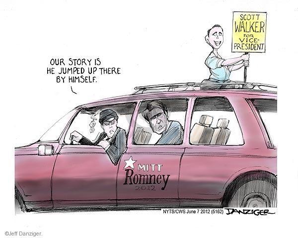 Cartoonist Jeff Danziger  Jeff Danziger's Editorial Cartoons 2012-06-07 campaign sign