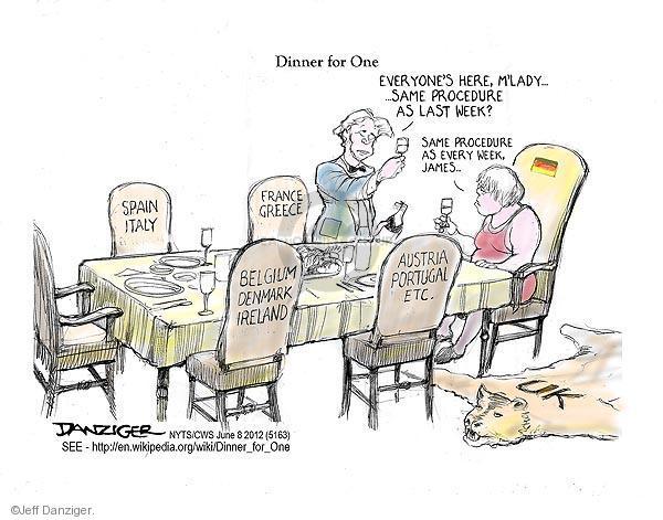 Cartoonist Jeff Danziger  Jeff Danziger's Editorial Cartoons 2012-06-08 Spain