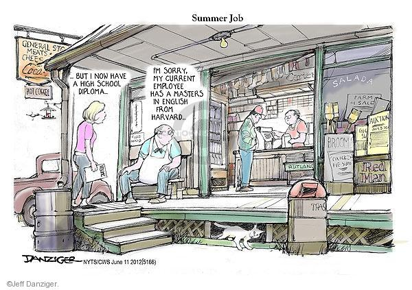 Cartoonist Jeff Danziger  Jeff Danziger's Editorial Cartoons 2012-06-11 college education