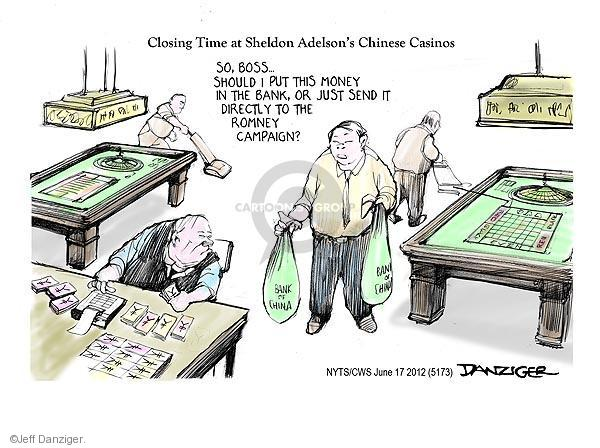 Cartoonist Jeff Danziger  Jeff Danziger's Editorial Cartoons 2012-06-17 candidates republicans