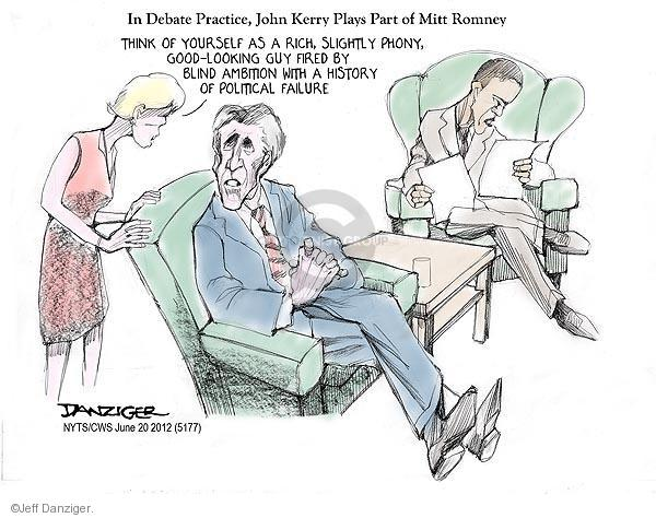 Cartoonist Jeff Danziger  Jeff Danziger's Editorial Cartoons 2012-06-20 candidates republicans