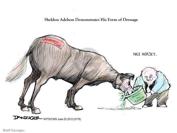 Cartoonist Jeff Danziger  Jeff Danziger's Editorial Cartoons 2012-06-25 made in China