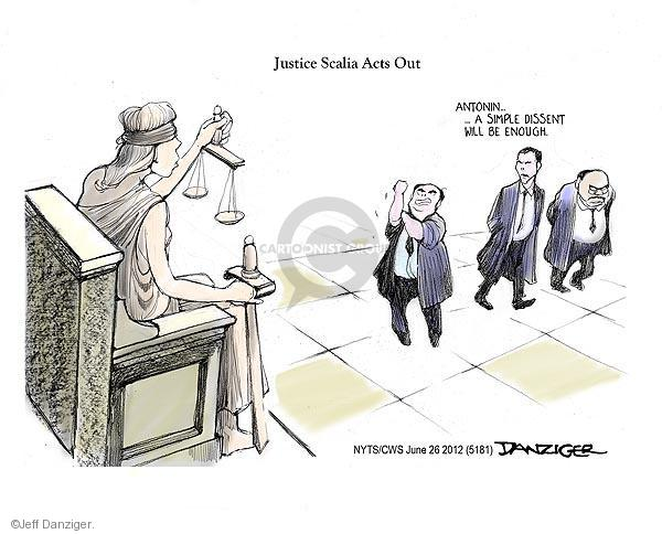 Cartoonist Jeff Danziger  Jeff Danziger's Editorial Cartoons 2012-06-26 ruling