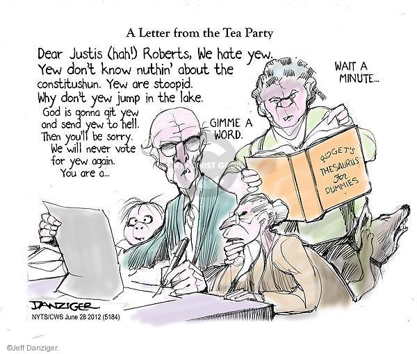Cartoonist Jeff Danziger  Jeff Danziger's Editorial Cartoons 2012-06-28 word