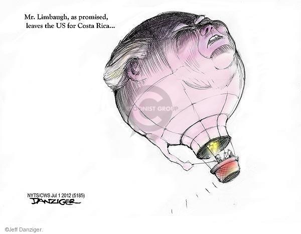 Cartoonist Jeff Danziger  Jeff Danziger's Editorial Cartoons 2012-07-01 Rush Limbaugh