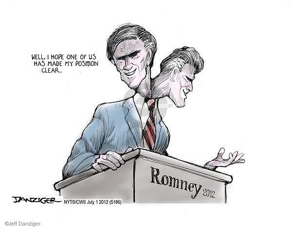 Cartoonist Jeff Danziger  Jeff Danziger's Editorial Cartoons 2012-07-01 position