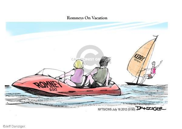 Cartoonist Jeff Danziger  Jeff Danziger's Editorial Cartoons 2012-07-16 candidates republicans