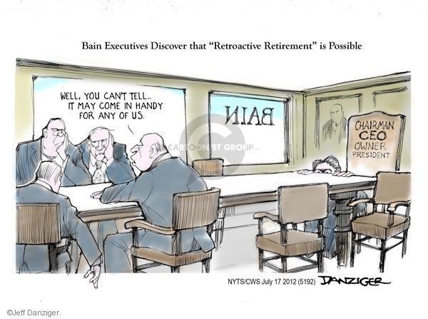 Cartoonist Jeff Danziger  Jeff Danziger's Editorial Cartoons 2012-07-17 retirement
