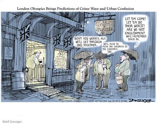 Cartoonist Jeff Danziger  Jeff Danziger's Editorial Cartoons 2012-07-20 London