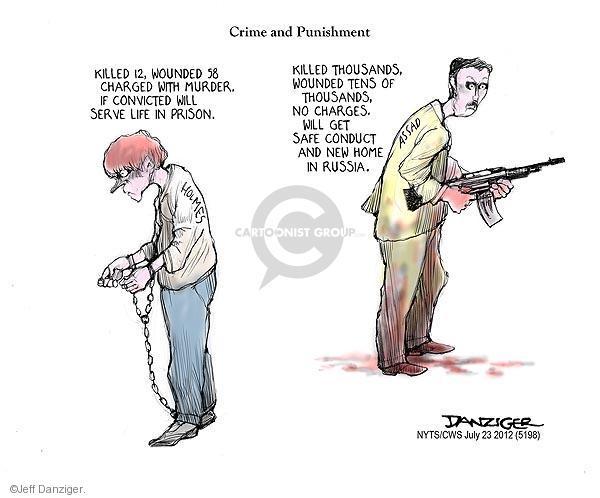 Cartoonist Jeff Danziger  Jeff Danziger's Editorial Cartoons 2012-07-23 prison