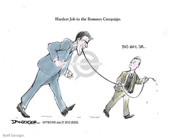 Cartoonist Jeff Danziger  Jeff Danziger's Editorial Cartoons 2012-07-27 republican politician