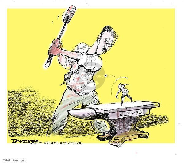 Cartoonist Jeff Danziger  Jeff Danziger's Editorial Cartoons 2012-07-28 Aleppo