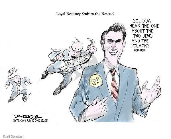 Cartoonist Jeff Danziger  Jeff Danziger's Editorial Cartoons 2012-07-30 republican politician