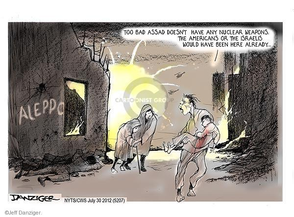 Cartoonist Jeff Danziger  Jeff Danziger's Editorial Cartoons 2012-07-30 Aleppo