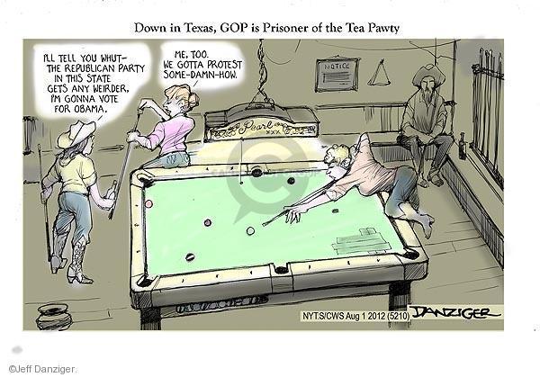 Cartoonist Jeff Danziger  Jeff Danziger's Editorial Cartoons 2012-08-01 party loyalty