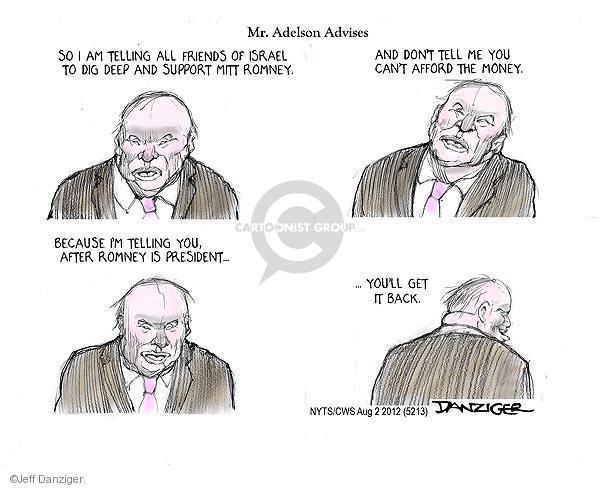 Cartoonist Jeff Danziger  Jeff Danziger's Editorial Cartoons 2012-08-02 republican politician