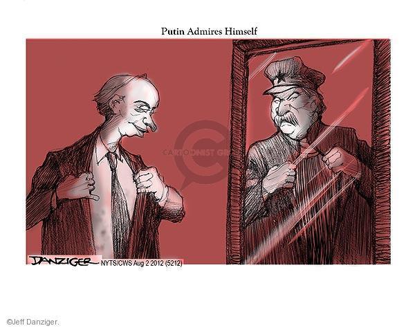 Cartoonist Jeff Danziger  Jeff Danziger's Editorial Cartoons 2012-08-02 leadership