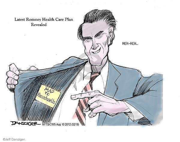 Cartoonist Jeff Danziger  Jeff Danziger's Editorial Cartoons 2012-08-10 health care plan