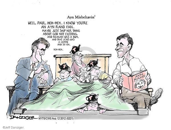 Cartoonist Jeff Danziger  Jeff Danziger's Editorial Cartoons 2012-08-12 Ryan