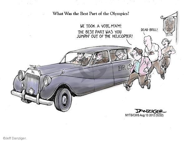 Jeff Danziger  Jeff Danziger's Editorial Cartoons 2012-08-13 2012 Olympics