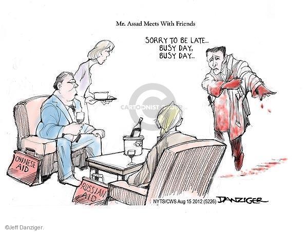 Cartoonist Jeff Danziger  Jeff Danziger's Editorial Cartoons 2012-08-15 Russian President