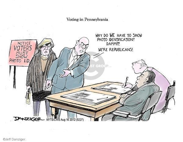 Cartoonist Jeff Danziger  Jeff Danziger's Editorial Cartoons 2012-08-16 Pennsylvania