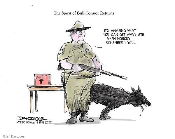 Jeff Danziger  Jeff Danziger's Editorial Cartoons 2012-08-19 voting rights