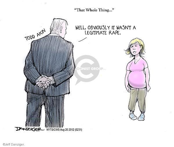 Cartoonist Jeff Danziger  Jeff Danziger's Editorial Cartoons 2012-08-20 woman