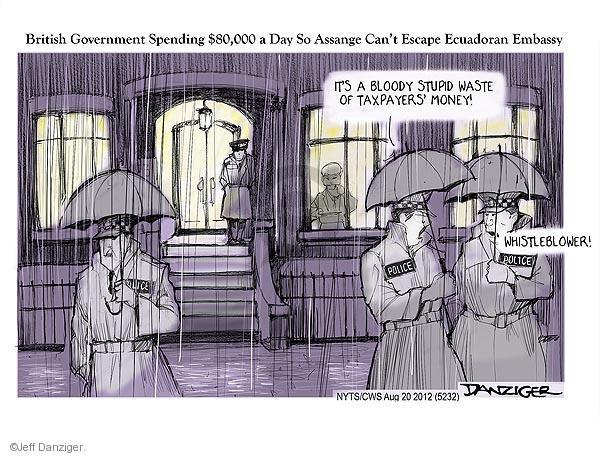 Cartoonist Jeff Danziger  Jeff Danziger's Editorial Cartoons 2012-08-20 London