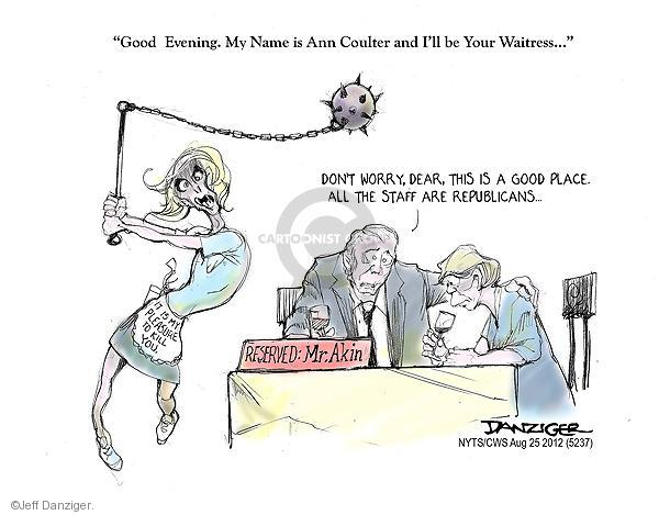 Cartoonist Jeff Danziger  Jeff Danziger's Editorial Cartoons 2012-08-25 woman