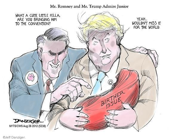 Cartoonist Jeff Danziger  Jeff Danziger's Editorial Cartoons 2012-08-26 Obama republicans