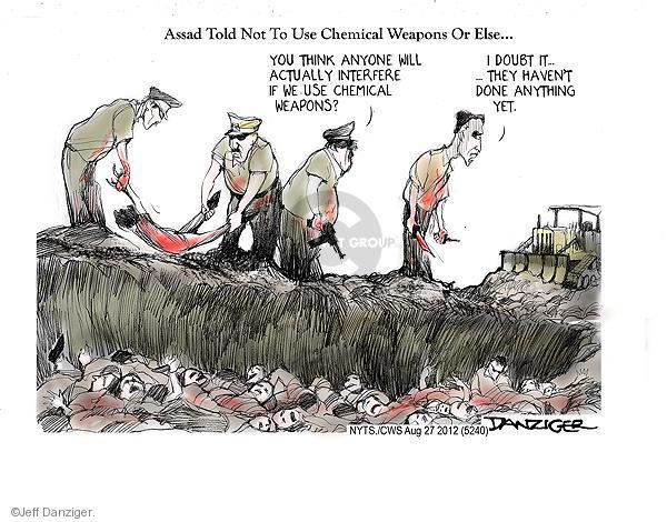 Cartoonist Jeff Danziger  Jeff Danziger's Editorial Cartoons 2012-08-27 doubt