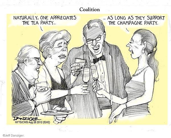 Cartoonist Jeff Danziger  Jeff Danziger's Editorial Cartoons 2012-08-28 party loyalty
