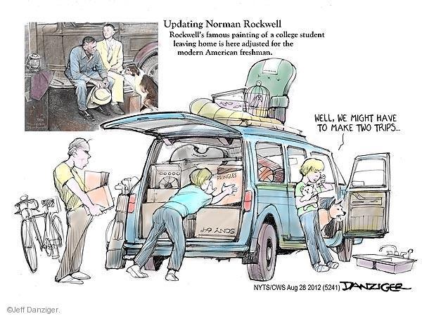 Cartoonist Jeff Danziger  Jeff Danziger's Editorial Cartoons 2012-08-28 trip