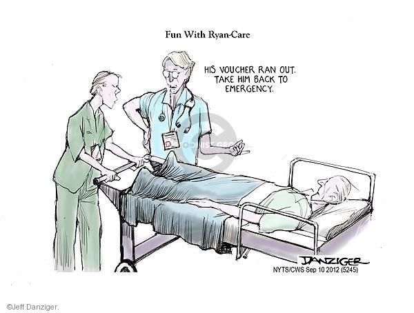 Cartoonist Jeff Danziger  Jeff Danziger's Editorial Cartoons 2012-09-10 hospital
