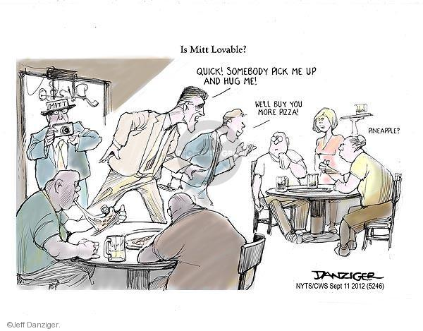 Cartoonist Jeff Danziger  Jeff Danziger's Editorial Cartoons 2012-09-11 opinion