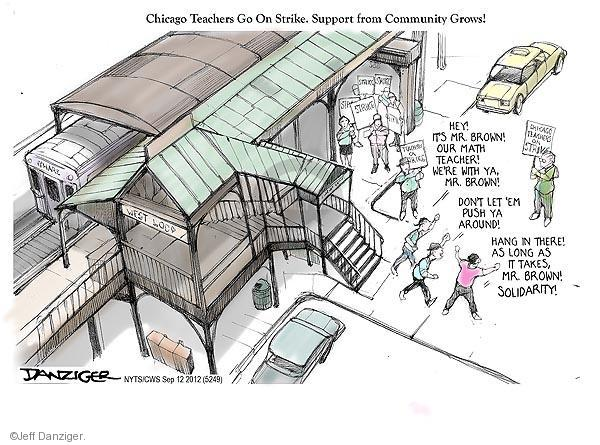 Cartoonist Jeff Danziger  Jeff Danziger's Editorial Cartoons 2012-09-12 high school teacher