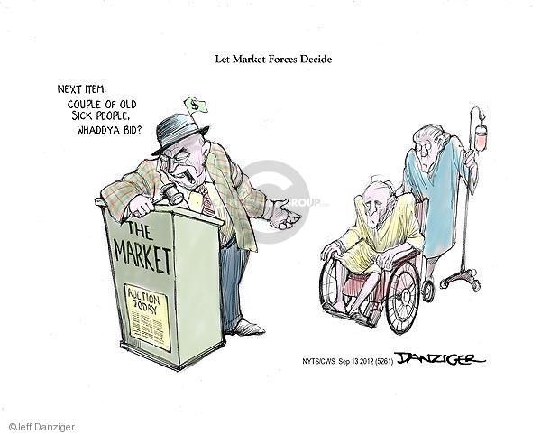 Cartoonist Jeff Danziger  Jeff Danziger's Editorial Cartoons 2012-09-13 health care reform