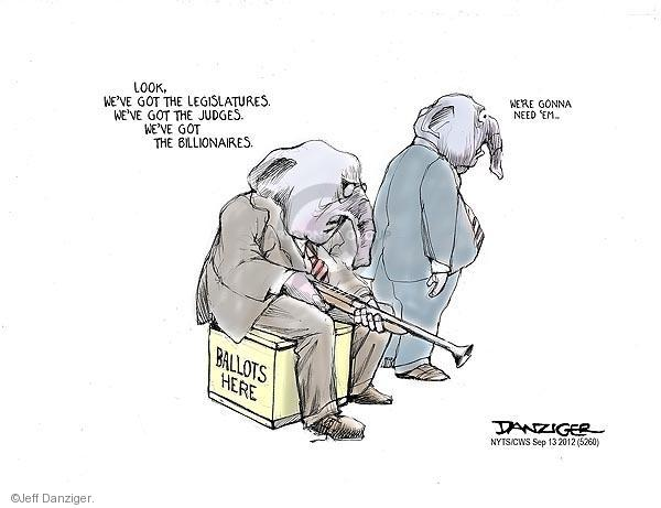 Jeff Danziger  Jeff Danziger's Editorial Cartoons 2012-09-13 voting rights